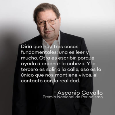 Ascanio Cavallo Premio Nacional de Periodismo 2021