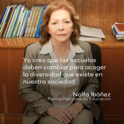 Nolfa Ibañez, Premio Nacional de Educacion 2021